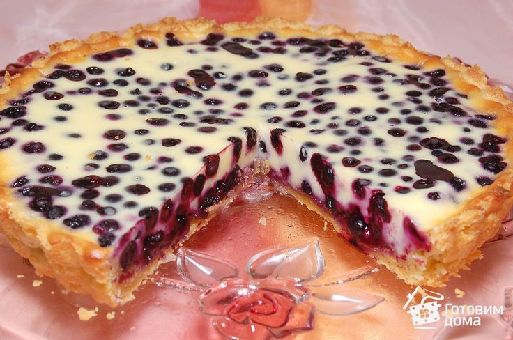 Песочный пирог с черникой фото к рецепту 7
