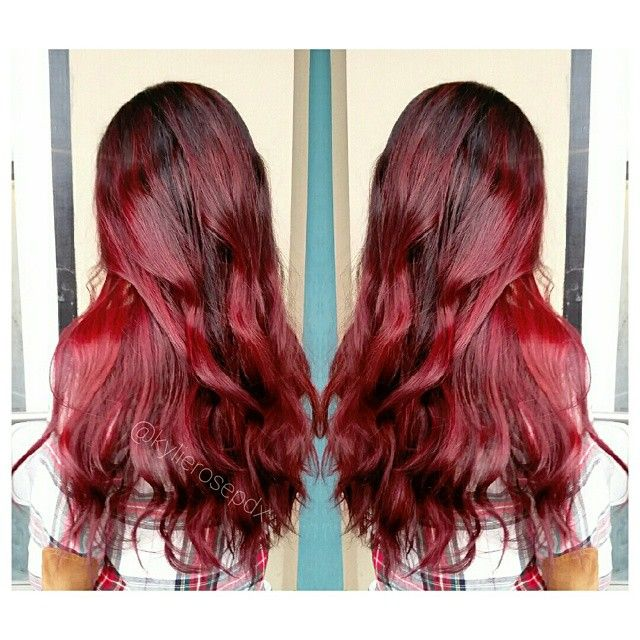 Cherry Cola Ombre Balayage All About The Hair