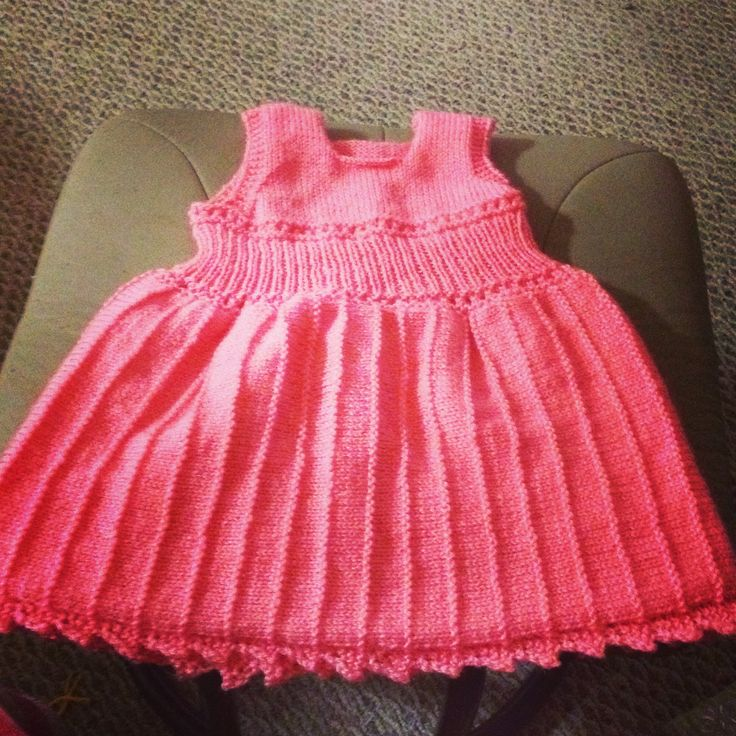 Toddler party dress knit for my niece.