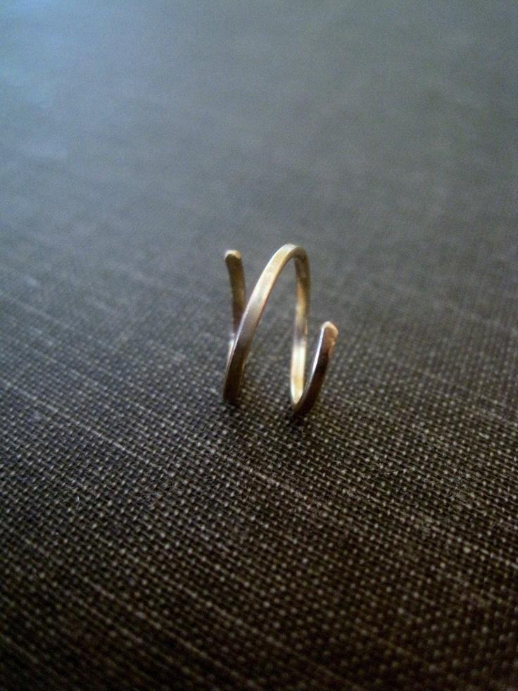 Silver TwoInOne Hoops cartilage earring cartilage by maryandjane, $19.00