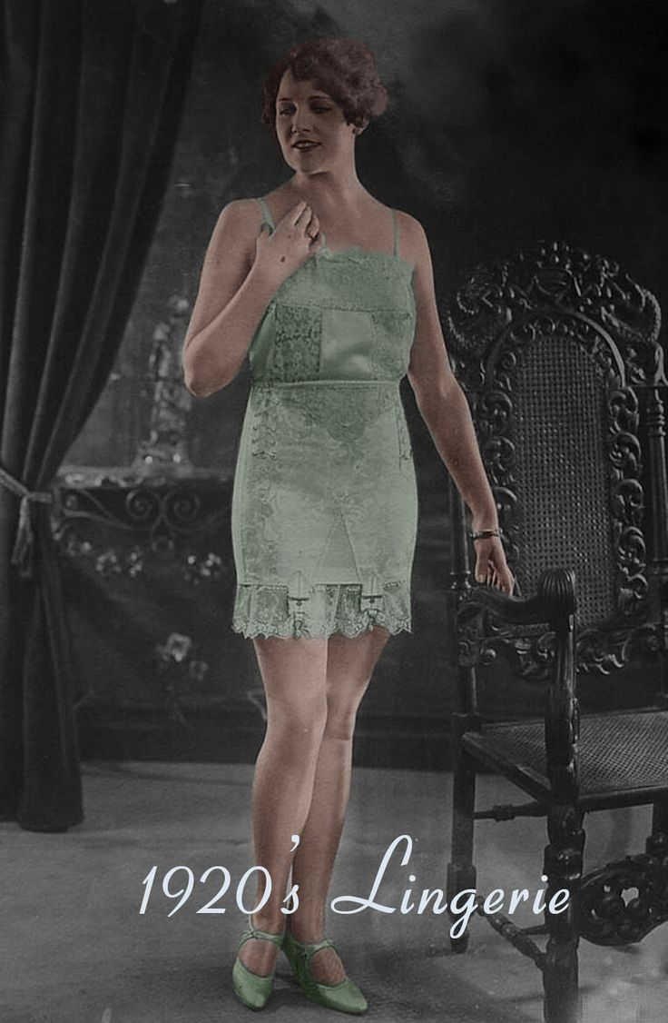 Women wore directoire knickers, or Cami-knickers, or knickers and a petticoat. In stockings, soft pastel colors or flesh colors were popular and the new artificial silk called Rayon. Nylons were not due until the late 1930s.