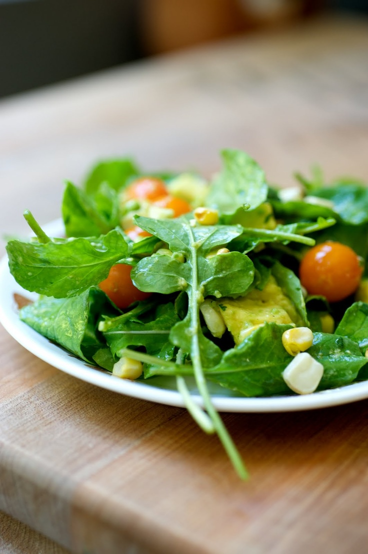 corn salads avocado salads arugula salad recipes cherry tomatoes baby ...