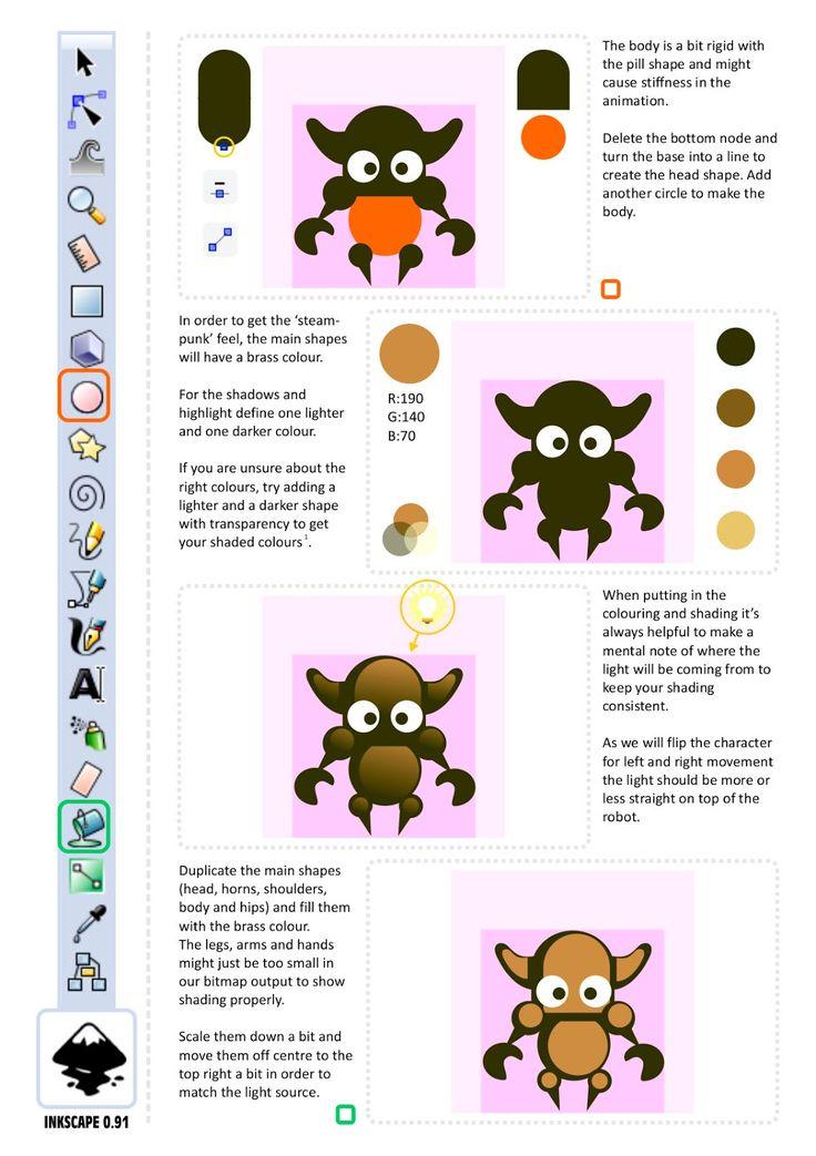 2d Game Character Design Tutorial : Best inkscape images on pinterest d game art pixel