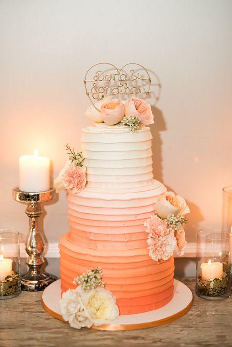 degradêcoral ombre cake ou bolo degradê