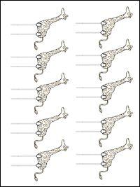 Pre-writing worksheet.  Draw the giraffe's legs.