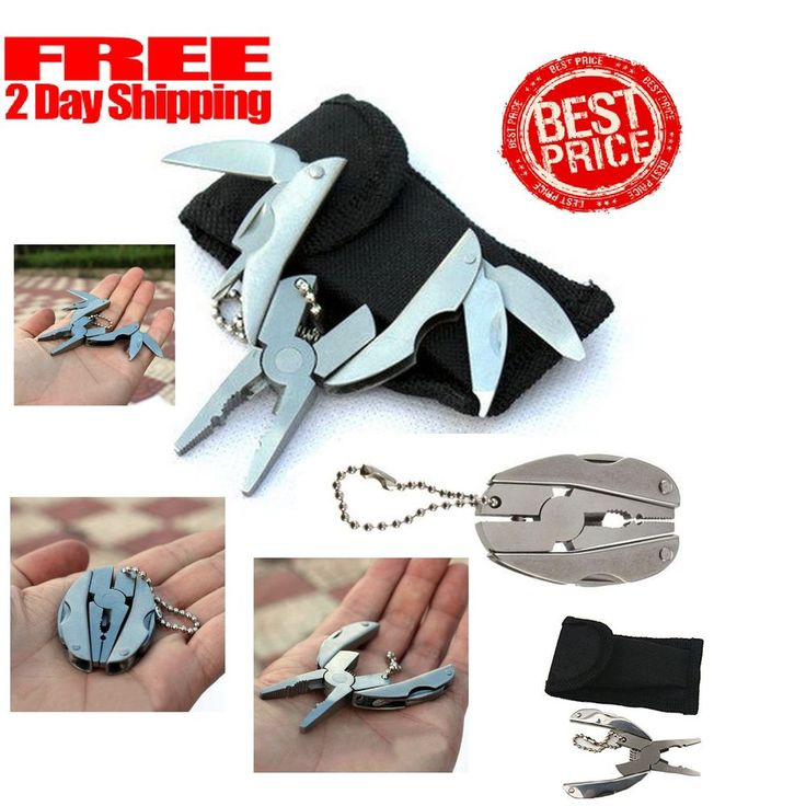 Pocket Multi Function Tools Set Mini 6in1 Hammer Wrench Pliers Saw Blade Knife #Dorlaer