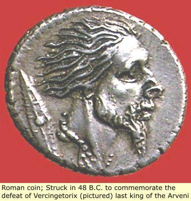 Original Black Roman Coin predates Julius Caesar Coin! Vercingetorix was the last King of the unified Celts/Gauls of France (Normandy).