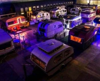 The BaseCamp Bonn Young Hostel uses camping caravans and trailers as rooms.