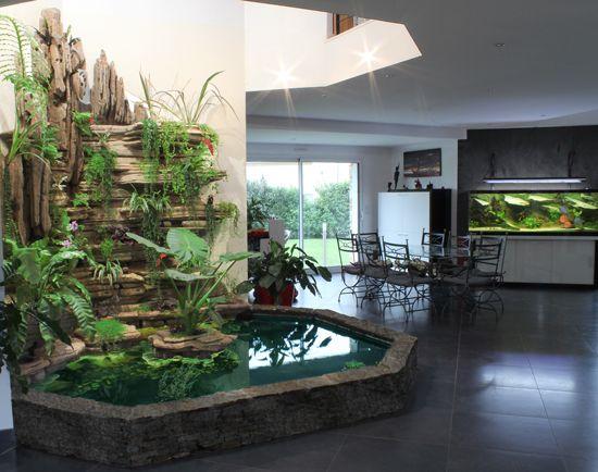25 b sta indoor pond id erna p pinterest modern for Mur vegetal interieur