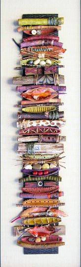 Take things found in your yard (sticks, rocks, leaves, etc.) then add different kinds of dried beans, marbles; tie some of the sticks with raffia, cording, fabric...use your imagination. Bridget Hoff Original