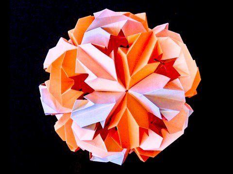 How to make LEROY's Origami Chrysanthemum Icosahedron Kusudama - YouTube