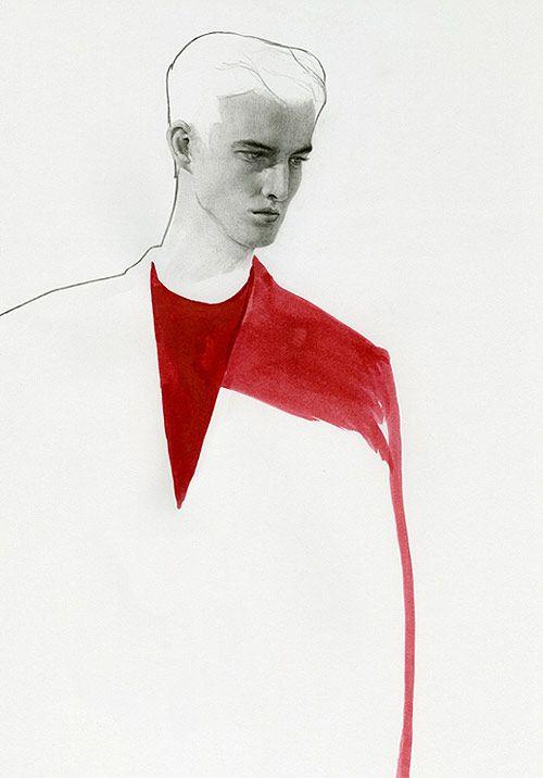 Fashion illustrations by Richard Kilroy