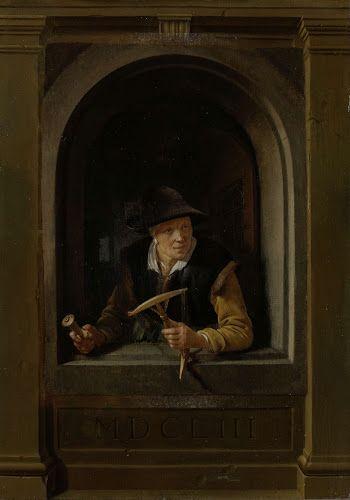 Een vissersvrouw (Gerard Dou, 1653, Rijskmuseum, Amsterdam)