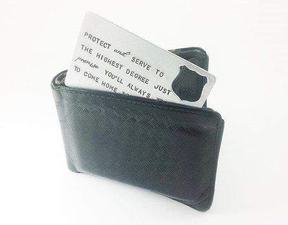 Police Officer Wallet Insert Card Personalized by StampedbyShaye