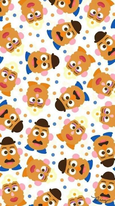 [人気キャラ大盛り]トイストーリー3 iPhone壁紙 Wallpaper Backgrounds iPhone6/6S and Plus Toy Story Pattern iPhone Wallpaper