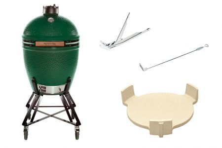 SAVE $400 on The Big Green Egg Summer Package*  *offer expires 3rd January 2018  1 x Large Egg: 1 x Nest for Lge Egg: 1 x ConvEGGtor for Lge Egg: 1 x Grill Gripper: 1 x Ash Tool:  Sale Price $1,699