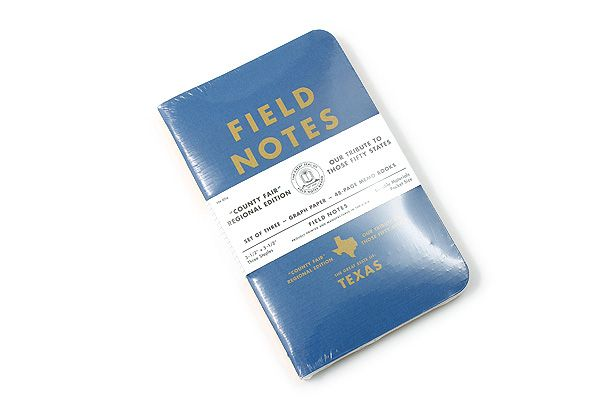 """These are kinda cool!  Field Notes Color Cover Memo Book - County Fair - 3.5"""" x 5.5"""" - 48 Pages - 5 mm Graph - Pack of 3 - Texas"""