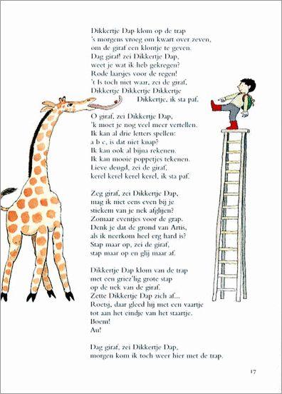 Dikkertje Dap nam stiekem een trap mee naar de dierentuin