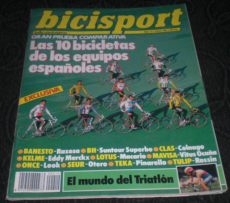 Revista Ciclismo Bicisport N 10 Febrero 1990 Las 10 Bicicletas de los españoles
