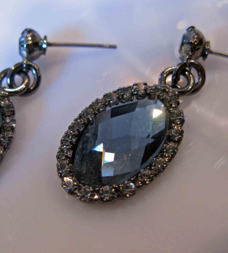 Black Diamond Vintage Earrings