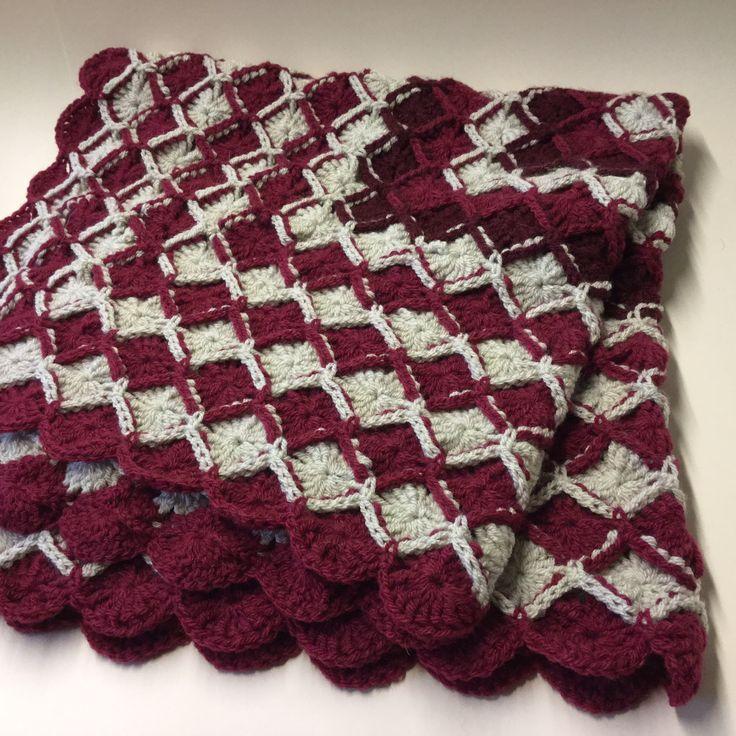 Bavarian crochet cot blanket