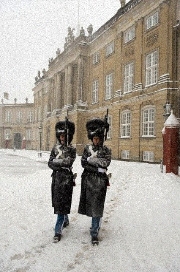 Amalienborg Palace, the winter home of the Danish royal family, Denmark