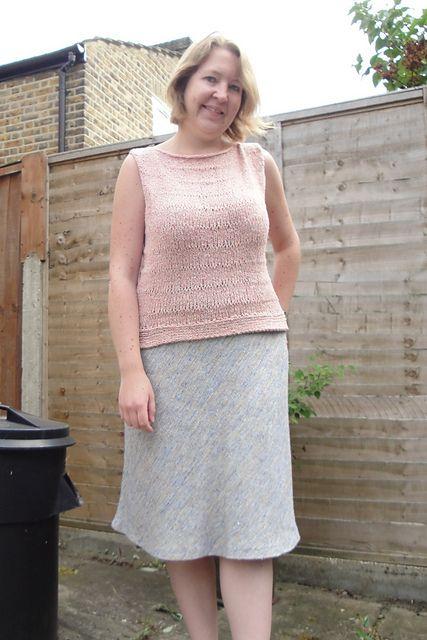 Ravelry: hanwellknitter's Pink top - Kim Hargreaves in Rowan Summer Tweed