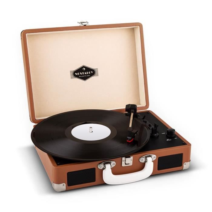 Auna Peggy Sue platine viynle rétro LP USB -marron pas cher - PetitBuzz ❤