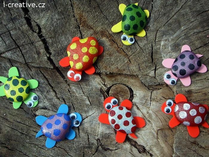 Jak vyrobit želvičky z kamínků - návod krok za krokem