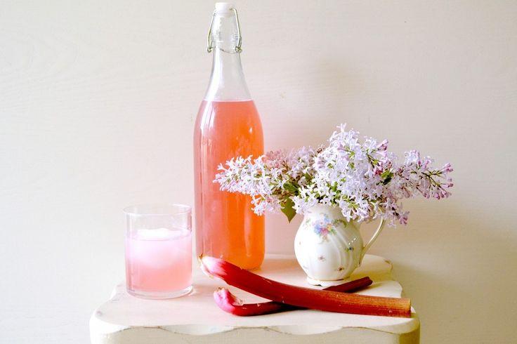 Rhubarb Lilac Cordial Recipe