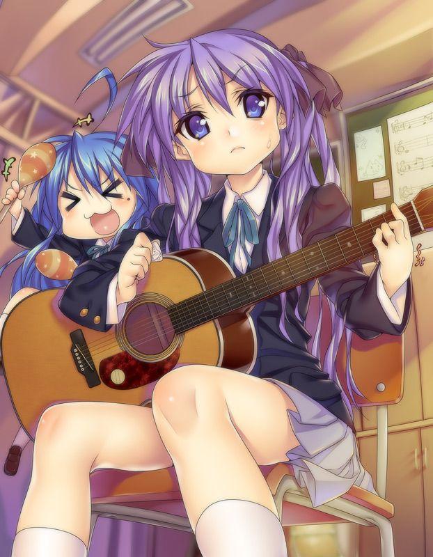 Tags: Anime, Lucky☆Star, Izumi Konata, Hiiragi Kagami, K-ON!:
