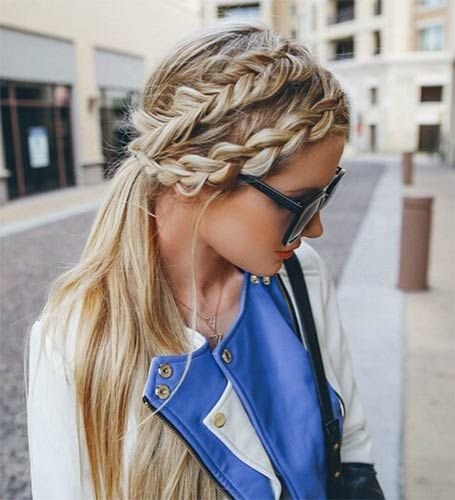 Two French Braids Ponytail