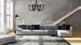 Lampa wisząca Como kol.czarny (LP-90103/6P BK) Light Prestige