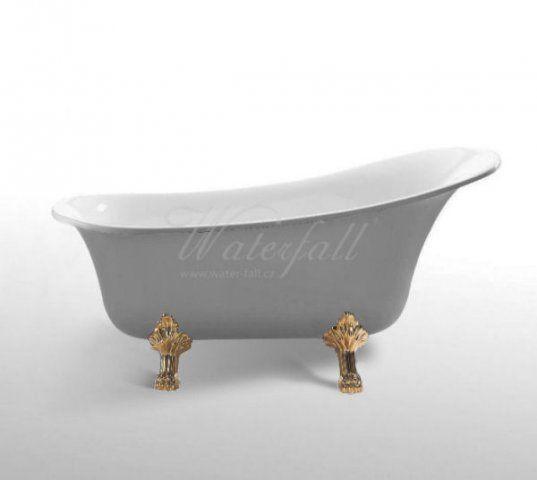 Retro vana volněstojící zlatá | Clawfoot Gold