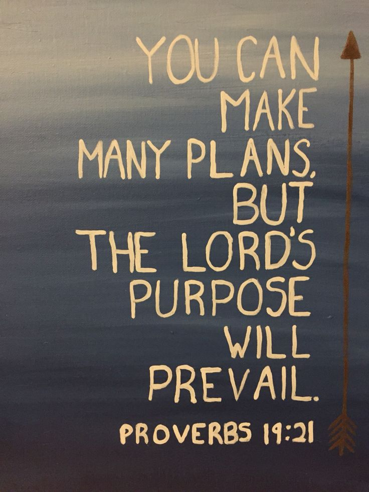 Canvas painting - proverbs 19:21