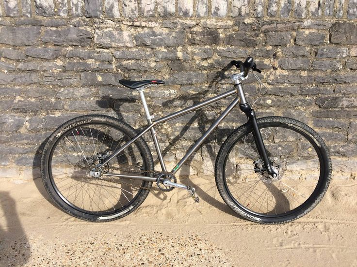 Curtis custom built 29er single speed with new Ritchey WCS carbon tapered fork.