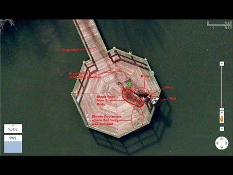 I came across this by chance and thought it was a joke or fake but it is real. Try it for yourself. Type in these Coordinates: 52.376552, 5.198303 in Google Maps and switch to Satellite view. So creepy. Google Maps: Men Dragging Dead Body Into Lake - YouTube