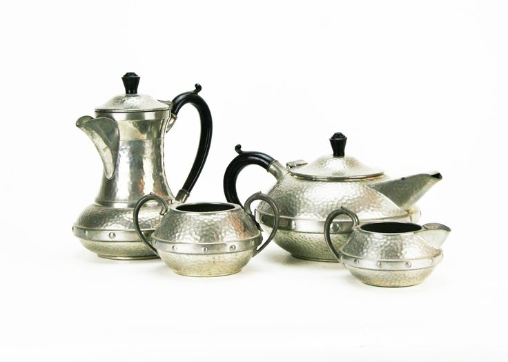 "Art Deco 1930's ""Craftsman"" (Sheffield) Pewter Tea / Coffee Service"