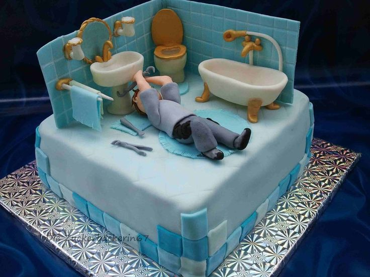Bathroom Cake - by DieZuckerbäckerin67 @ CakesDecor.com - cake decorating website