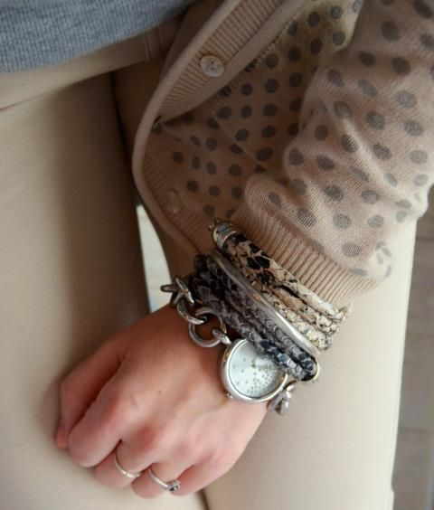 Bracelet wild, jungle pattern snake print