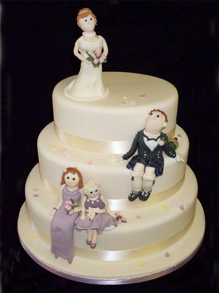 A Scottish wedding cake from Jenny's Cakes