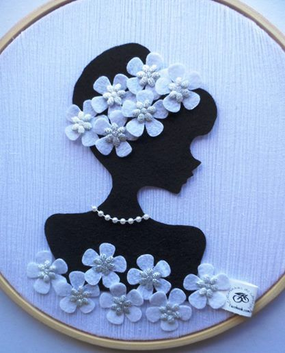 Great silhouette for mother's day or tea or Barbie party | via Simple Ideas