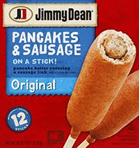Pancakes & Sausage on a Stick -- this was a popular breakfast when my boys were little!