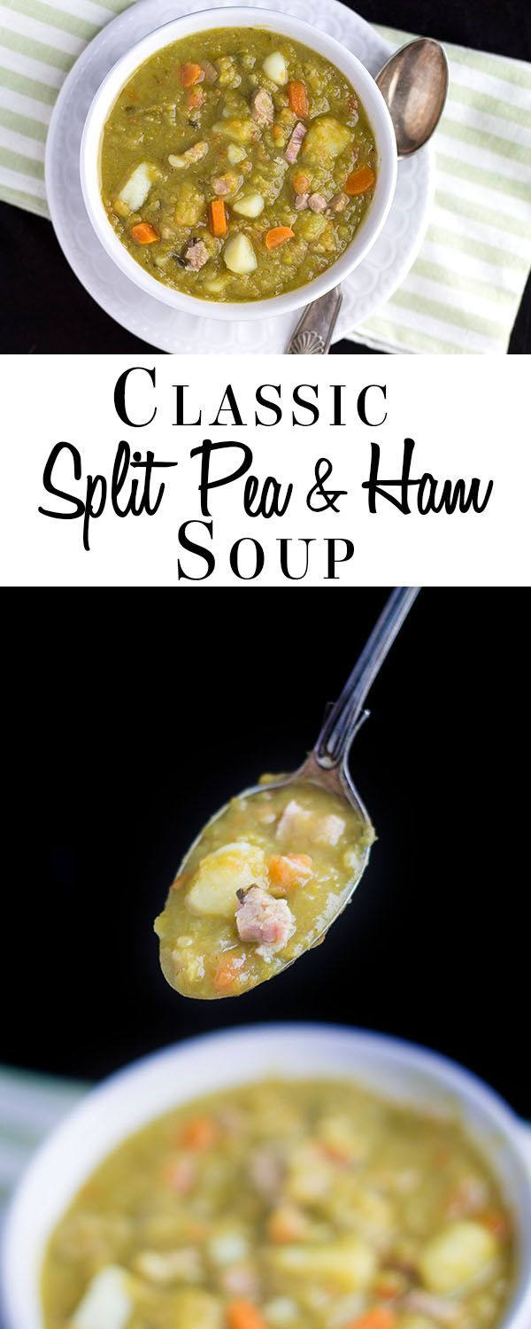 This recipe from Erren's Kitchen for Split Pea & Ham soup makes a hearty and vibrant soup that's the perfect comforting cold weather soup.