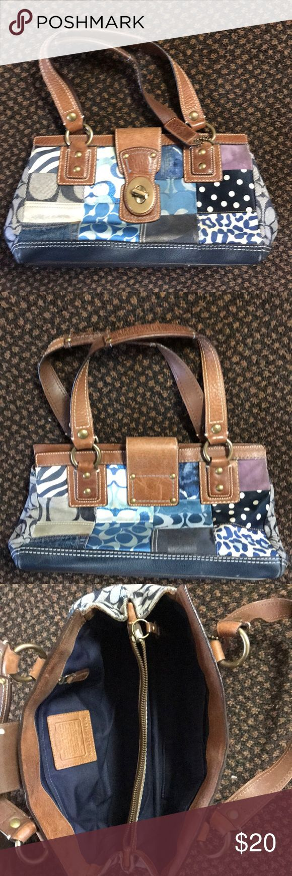 Coach Hobo Bag Very cute denim coach purse. Does show some wear but overall in good condition. Nice size. Not to small or big. Has a lot of pockets. Us buyers only. No trades. Coach Bags Totes