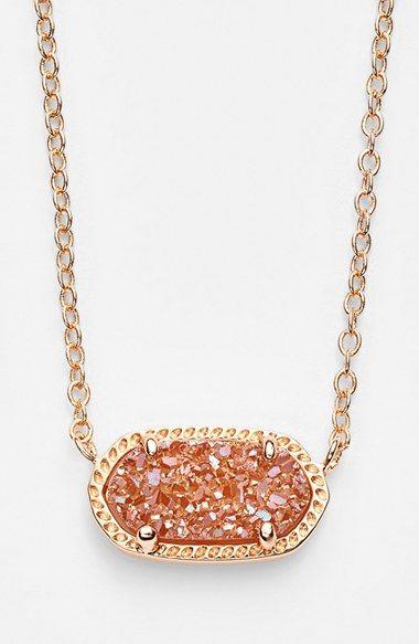 Kendra Scott 'Elisa' Drusy Pendant Necklace