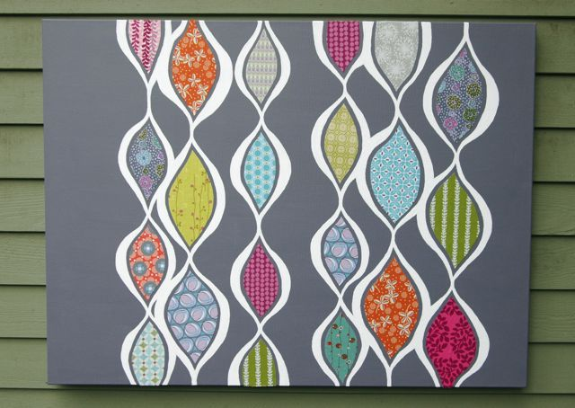 Jessica makes such beautiful things!  This painting (with fabric) is gorgeous and would make a fabulous quilt!