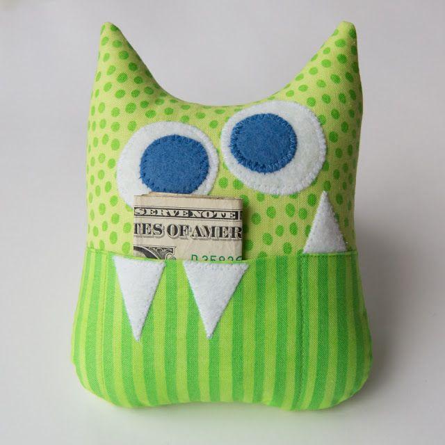 Little Monster Tooth Fairy Pillow