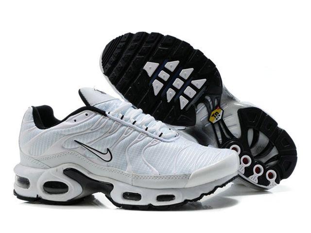 Chaussures de Nike Air Max Tn Requin Homme Blanc Vrai Tn Pas Cher
