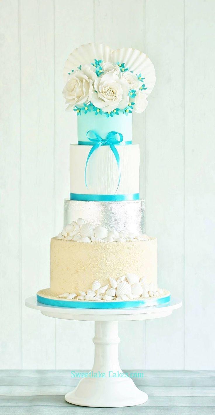 149 best Nautical themed wedding cakes images on Pinterest | Cake ...